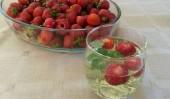 Truskawki z ogródka i lemoniada z miętą